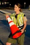 Oficial de policía de sexo femenino Fotografía de archivo libre de regalías