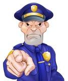 Oficial de policía punteagudo enojado Fotografía de archivo libre de regalías