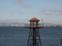 Oficial de prisiones Tower en bahía foto de archivo