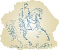 Oficial de unión americano ilustración del vector