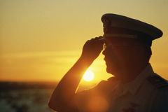 Oficial do exército Foto de Stock Royalty Free