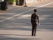 Oficial do exército tailandês Imagens de Stock