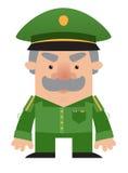Oficial do soldado dos desenhos animados Foto de Stock