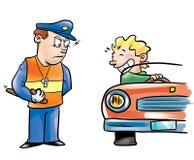 Oficial e excitador de polícia ilustração do vetor
