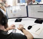 Oficial Working Assistance Concept del servicio de atención al cliente Imagen de archivo libre de regalías
