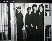 Oficiales correccionales en Alcatraz Imagenes de archivo