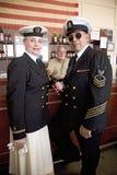 oficiales de la marina de guerra de los años 40 Fotografía de archivo libre de regalías