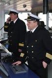 Oficiales de la navegación Foto de archivo libre de regalías