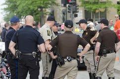 Oficiales de policía Fotografía de archivo
