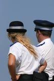 Oficiales de policía británicos Imagenes de archivo