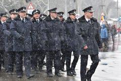 Oficiales de policía de los militares y en un evento nacional Fotografía de archivo libre de regalías