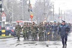 Oficiales de policía de los militares y en un evento nacional Imagen de archivo libre de regalías