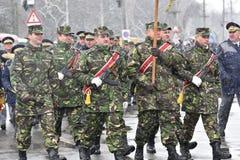 Oficiales de policía de los militares y en un evento nacional Fotografía de archivo