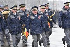 Oficiales de policía de los militares y en un evento nacional Fotos de archivo libres de regalías