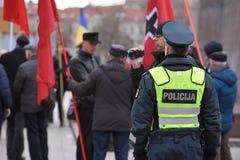 Oficiales de policía de servicio, Vilna Imagen de archivo