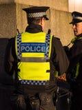 Oficiales de policía del transporte de británicos Fotos de archivo