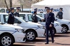 Oficiales de policía en la calle Melbourne de Swanston Imagenes de archivo