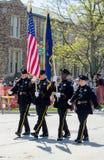 Oficiales de policía en desfile Imagen de archivo libre de regalías