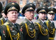 Oficiales en el desfile Fotografía de archivo