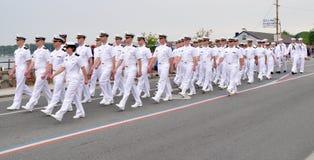 Oficiales navales Fotos de archivo libres de regalías