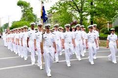 Oficiales navales Imágenes de archivo libres de regalías