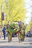 Oficiales rusos en el desfile en ocasión de las celebraciones de Victory Day el 9 de mayo Imágenes de archivo libres de regalías
