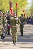 Oficiales rusos en el desfile en ocasión de las celebraciones de Victory Day el 9 de mayo Foto de archivo
