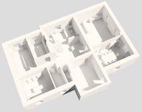 oficina 3d Imágenes de archivo libres de regalías
