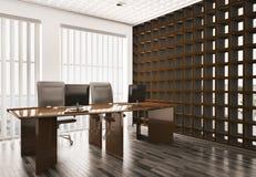 Oficina 3d interior Fotografía de archivo libre de regalías