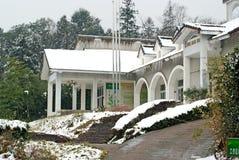 Oficina administrativa de la entrada del parque del China-animal de Yaan en centro del bifengxia Foto de archivo libre de regalías