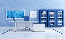 Oficina azul contemporánea libre illustration
