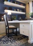 Oficina azul y blanca Imagen de archivo