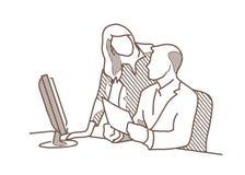 Oficina 1bw del jefe del dibujo Libre Illustration
