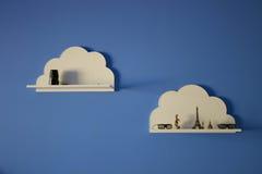 Oficina conceptora de la nube Fotos de archivo