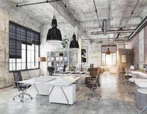 Oficina coworking moderna Foto de archivo libre de regalías