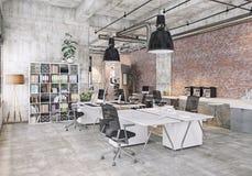 Oficina coworking moderna Imagen de archivo libre de regalías