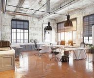 Oficina coworking moderna Imagen de archivo