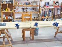 Oficina da carpintaria Imagem de Stock Royalty Free