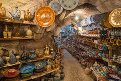 Oficina da cerâmica de Avanos foto de stock