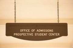 Oficina de admisiones Foto de archivo libre de regalías