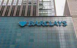 Oficina de Barclays en Manhattan Fotos de archivo libres de regalías