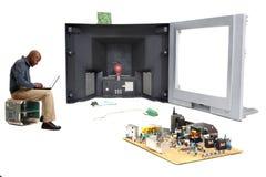 Oficina de componentes electrónicos Foto de archivo libre de regalías