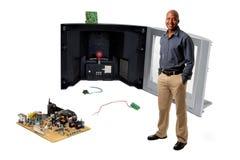 Oficina de componentes electrónicos Imagen de archivo libre de regalías
