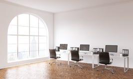 Oficina de Coworking con la opinión de NY ilustración del vector