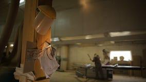 Oficina de fabricação privada para a fabricação dos produtos de madeira e do conjunto da mobília, espaço da cópia, fábrica video estoque
