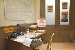Oficina de la campaña de Kennedy Fotografía de archivo libre de regalías
