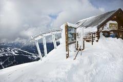 Oficina de la patrulla del esquí Imagen de archivo