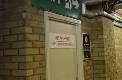 Oficina de la UEFA Foto de archivo libre de regalías