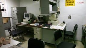 Oficina de las teletipias del acorazado almacen de metraje de vídeo