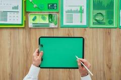 Oficina de negocios verde Imagen de archivo libre de regalías